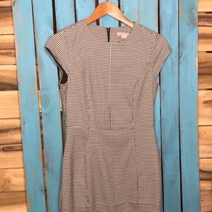 H&M checkered fitted dress